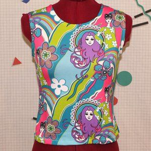 Handmade colorful top